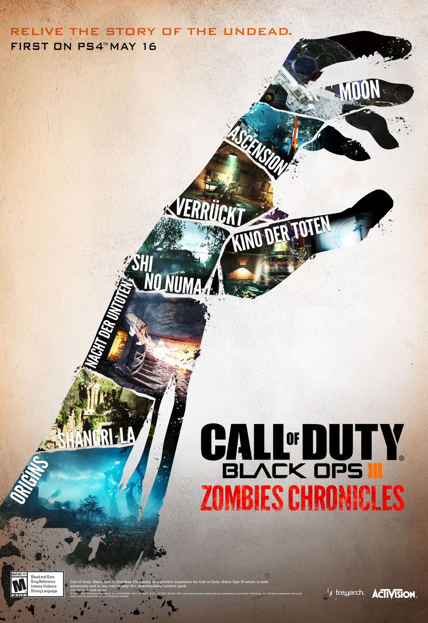 CoD: Black Ops III Zombies Chronicles - neue Untote ab 16. Mai on
